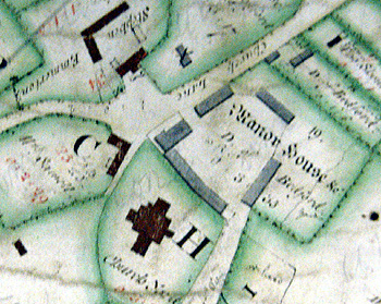 Manor Farm shown on a map of 1760 [R1/42]
